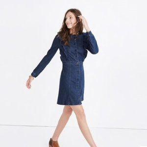 Madewell Denim Ruffle Dress